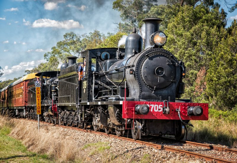 A steam train trip along the Thirlmere Heritage Railway.