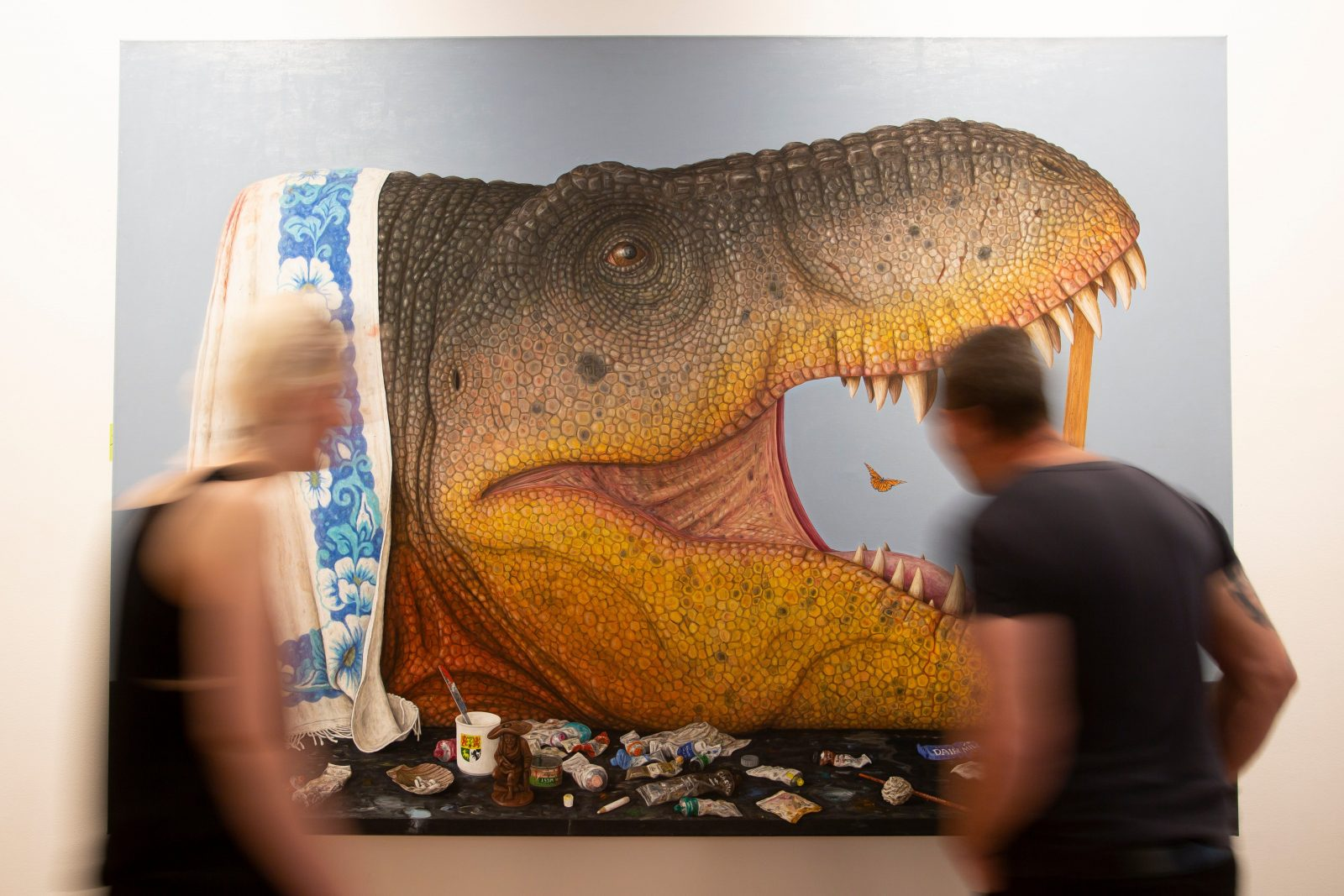 Andrew Sullivan, Survey into the Cretaceous, installation view, Wagga Wagga Art Gallery, 2019