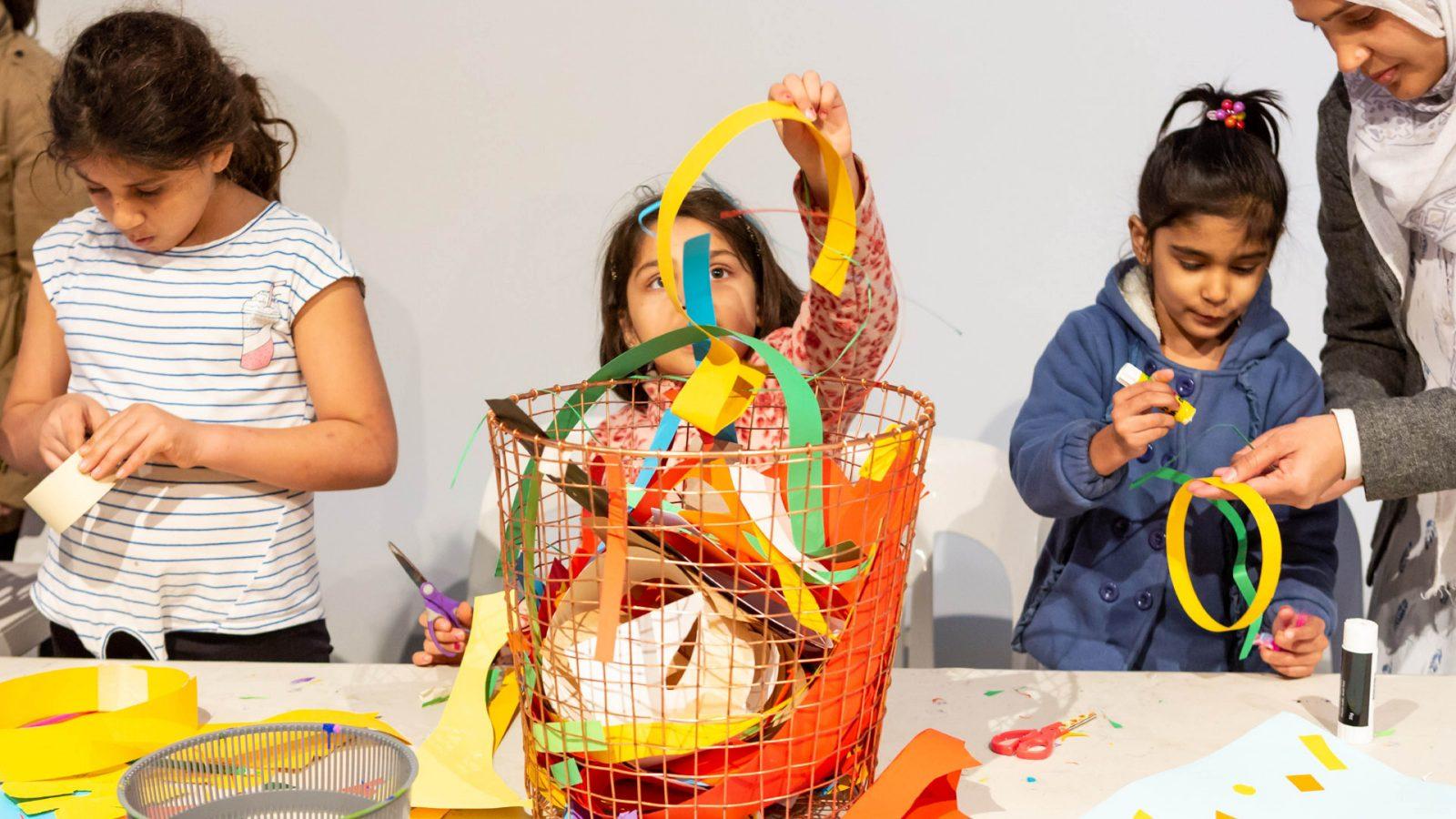 Kids doing crafts