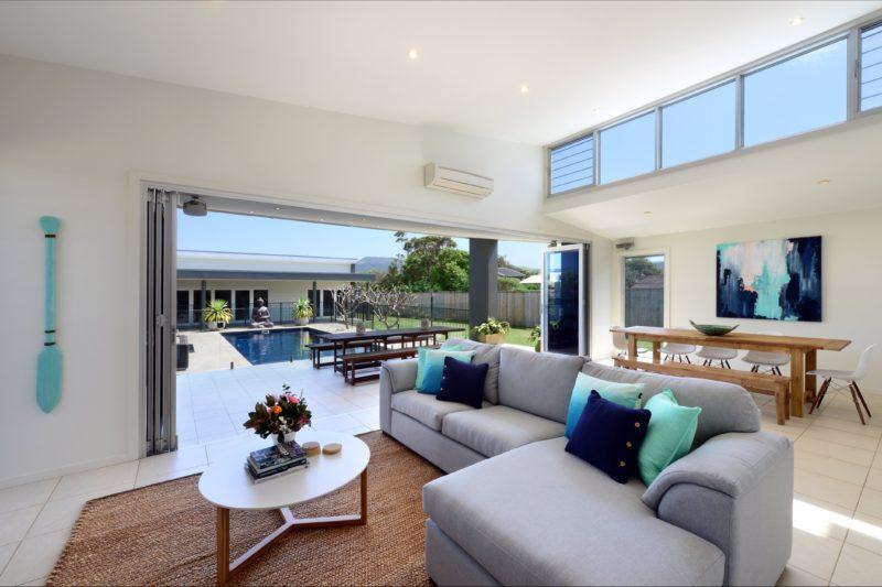 Bright lounge room