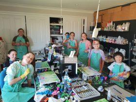Kids art class de lew designs wagga