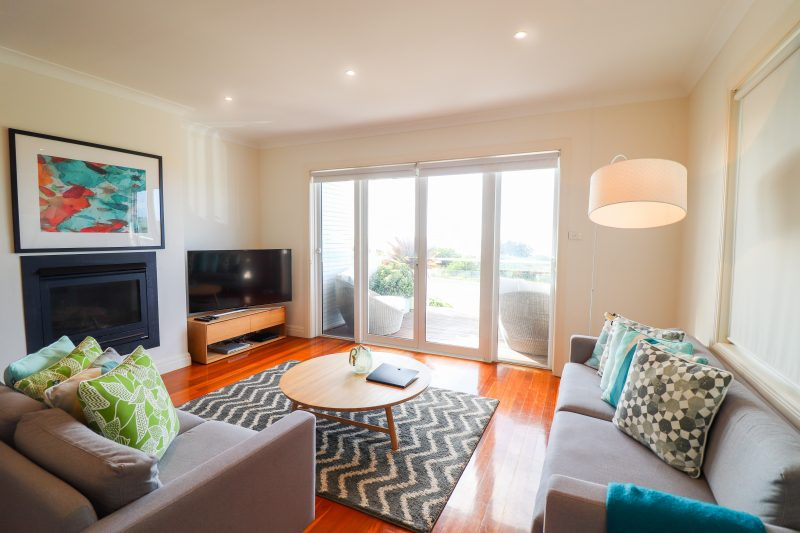 Downstairs living area with Foxtel, flat screen Tv and WIFI