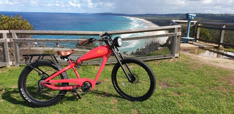 One of their candy rides up at Cape Byron lighthouse