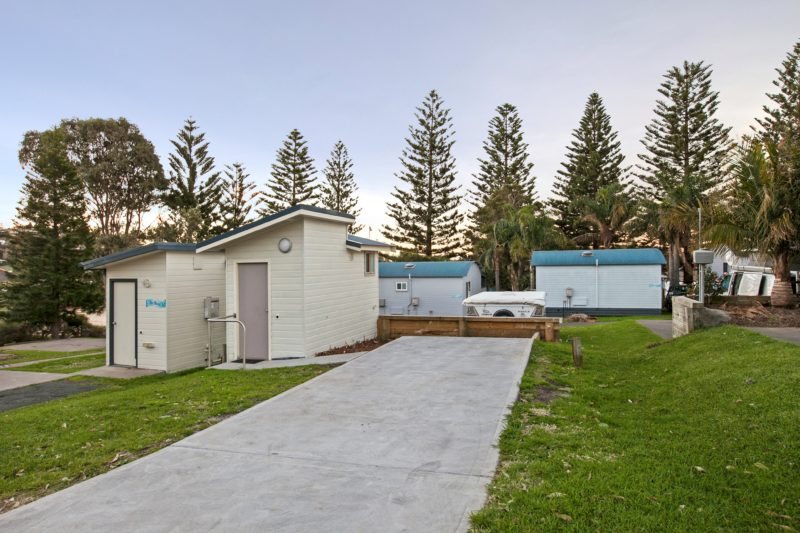 Ensuite sites at Surf Beach Holiday Park