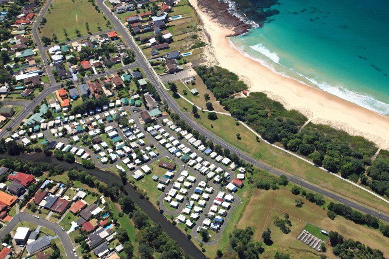 Surfrider Caravan Park - aerial view