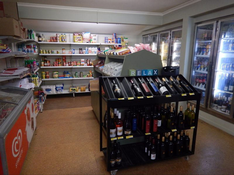 Groceries and local wines