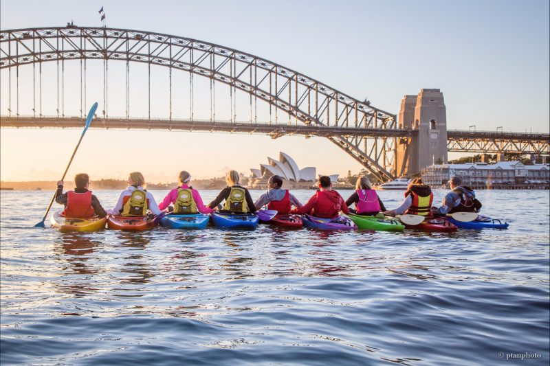 Sunrise-kayak-Sydney