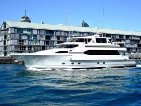 92 foot super yacht A.Q.A. Sydney Harbour Yacht Charter