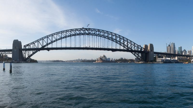 Sydney harbour breakfast paddle view