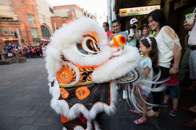 lion dances chinatown
