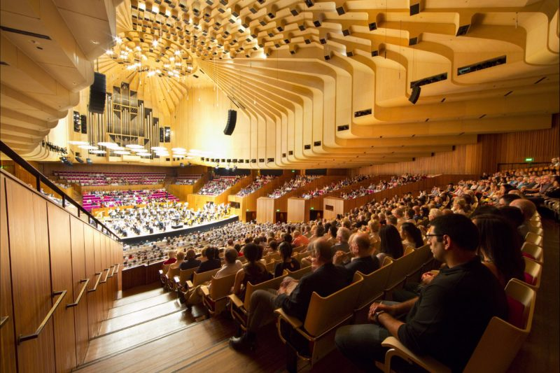 Sydney Opera House Symphony performance concert hall