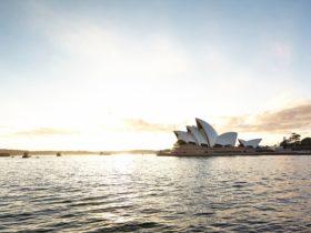 Sunrise at the Sydney Opera House