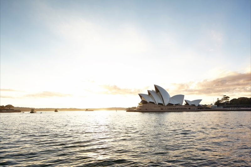 Sunrise at the Sydney Opera House