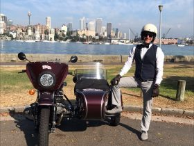 Bespoke tours of Sydney by sidecar - Rushcutters Bay, Double Bay, Parsley Bay, Watsons Bay
