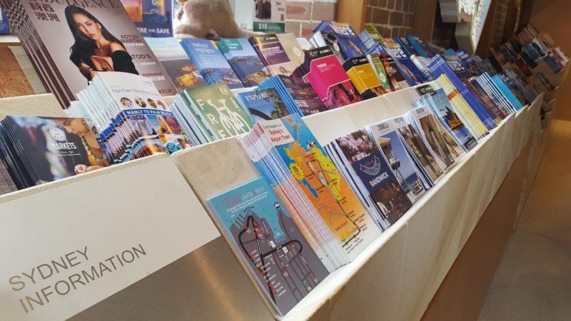Sydney Visitor Centre brochures