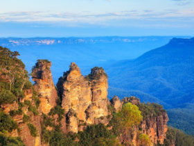 Stunning Three Sisters Rock Formation