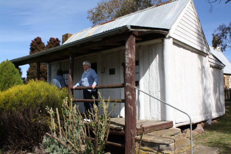 Front of slab cottage