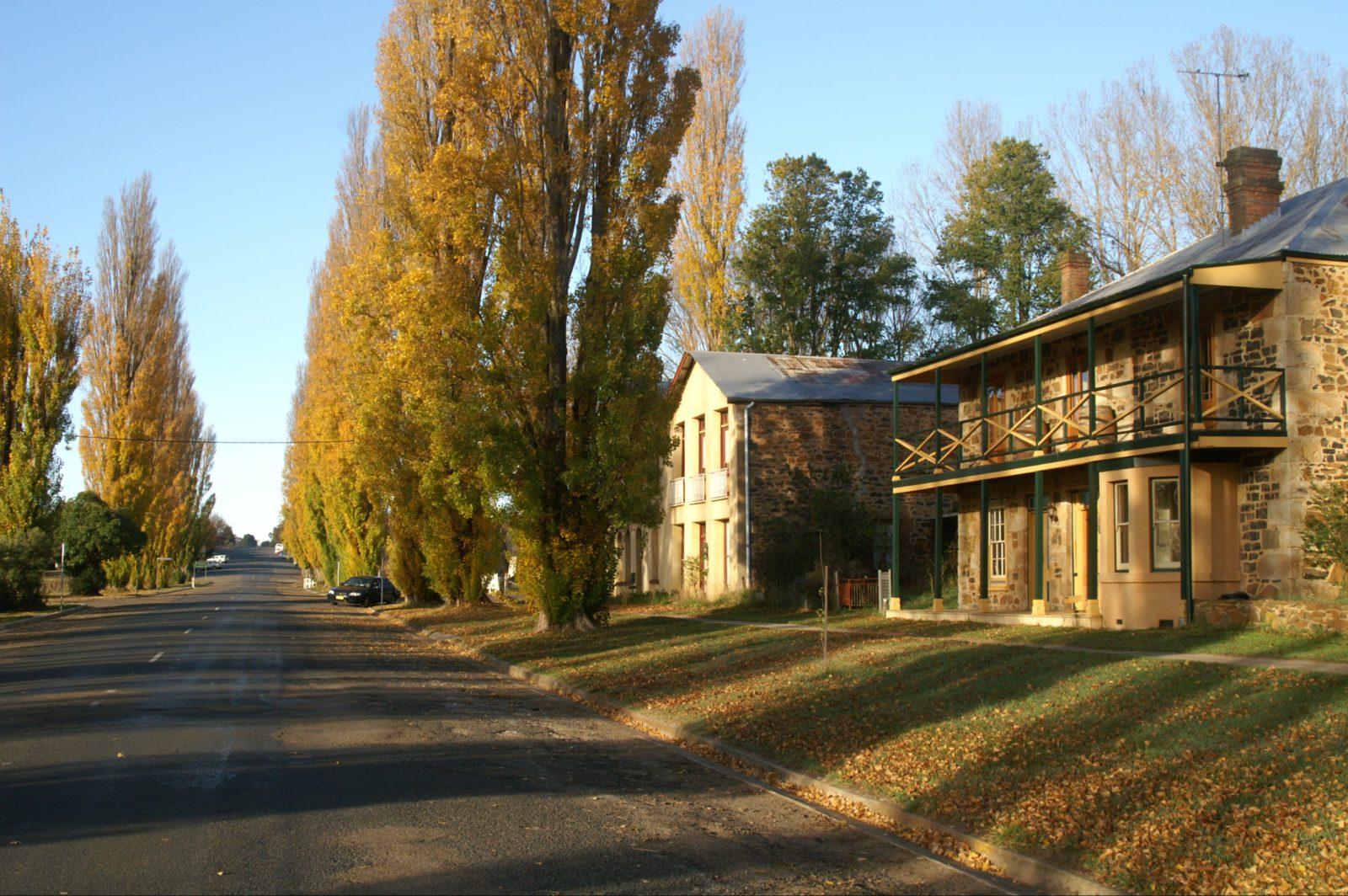 Taralga stone house and road