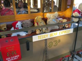A mass of Teddies ride on the Teddy Bear Express