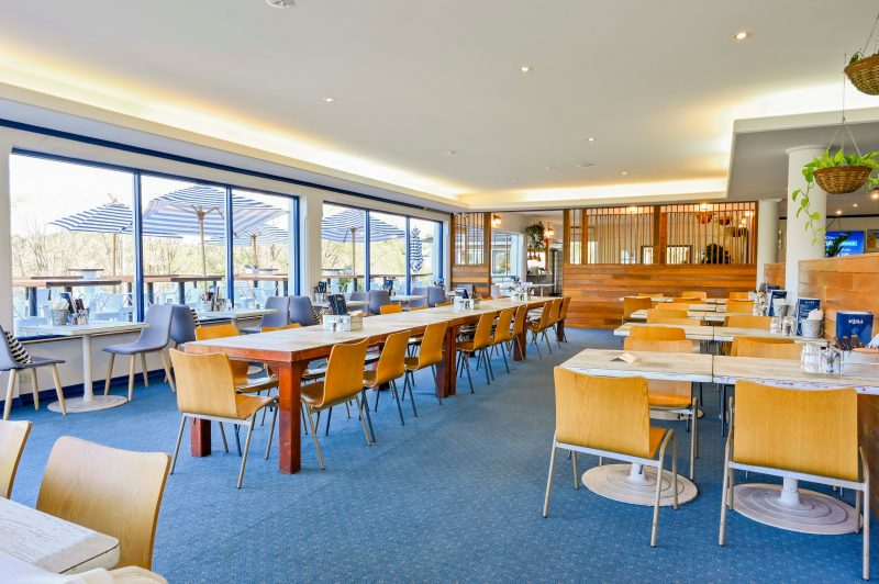 Enjoy causal dining in the Boat Shed's Bistro