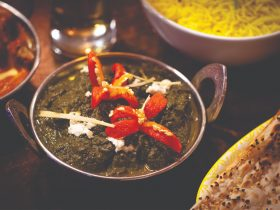 Saag Paneer at The Colonial British Indian Restaurants