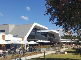 External view of Nepean River Restaurant Precinct on sunny day