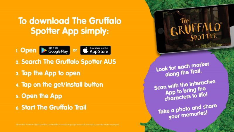 The Gruffalo Spotters Trail App Instructions