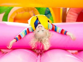 Child Playing at The Inflatable Factory
