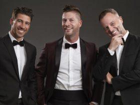 Three men wearing tuxedo