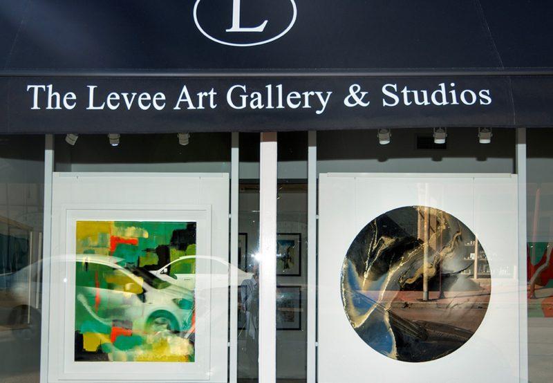 Exterior window shot of The Levee Art Gallery and Studios