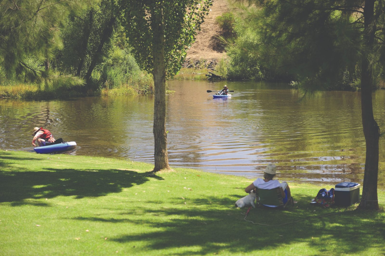 The Lions Junction Park, where two rivers meet, just out of Tumut