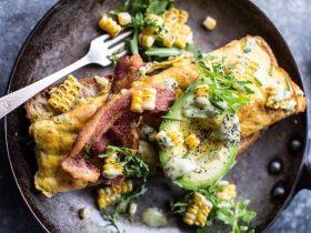 Organic Omelette w Bacon, Avocado & Lemon Mustard