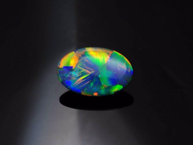 15 carat black opal beauty