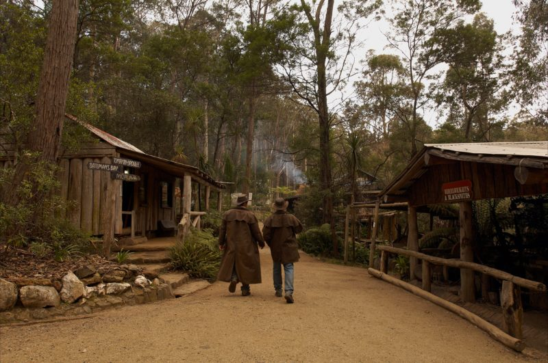 The Original Gold Rush Colony, Tour Guides walking in the Main street