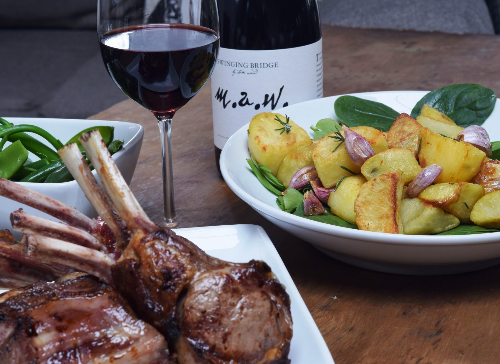 Cowra Lamb with local wine