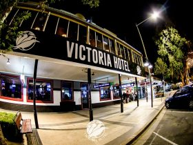 Front street view of the Victoria Hotel Wagga