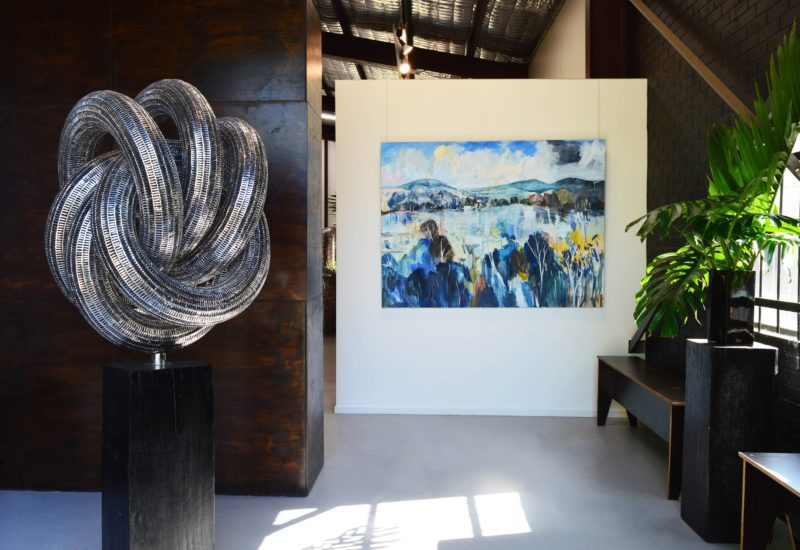 Artist Charly Wrencher and Sculptor Lachlan Ross @ Thomgallery Byron Bay