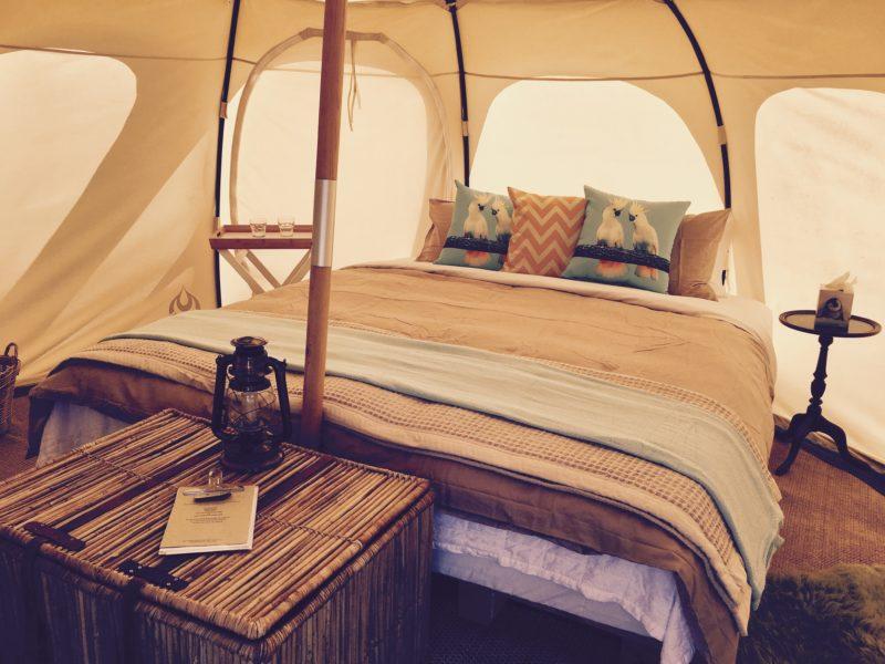 Tent inside