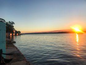 lakehouse sunset