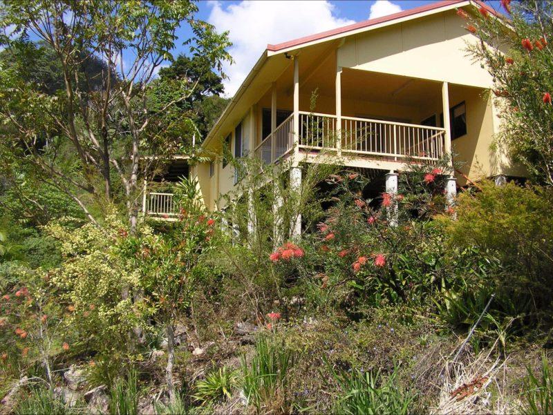 shows verandahs and native gardens