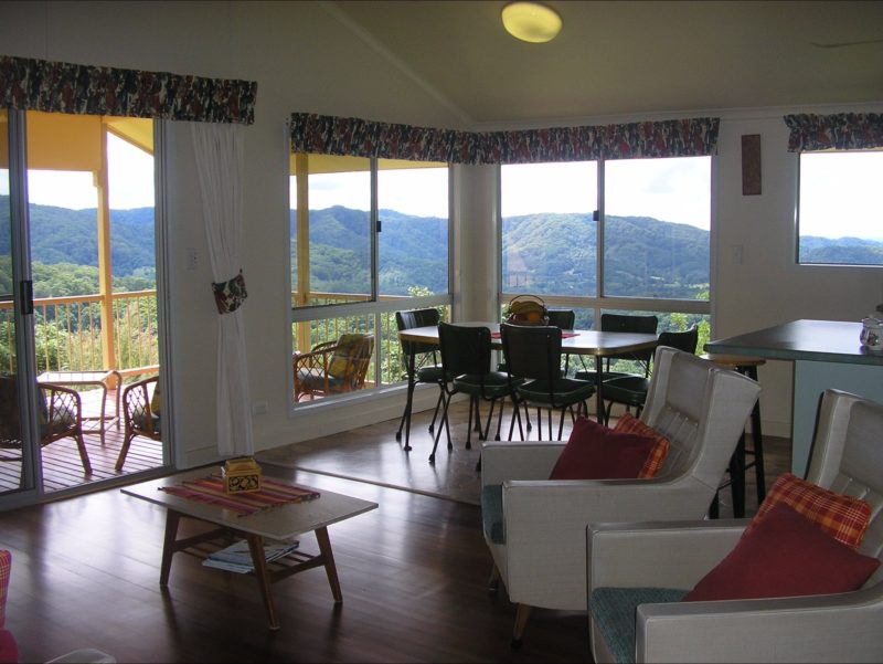Guesthouse lounge, dining and verandah