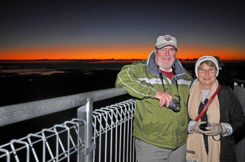 Couple on Treetop Walk Sunrise Tour