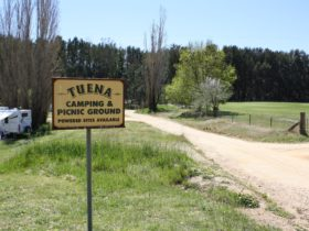 sign for camping and picnic grounds