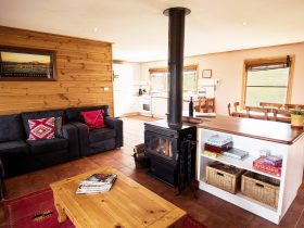 Each cottage is fully self contained with large living areas and even an outdoor BBQ.