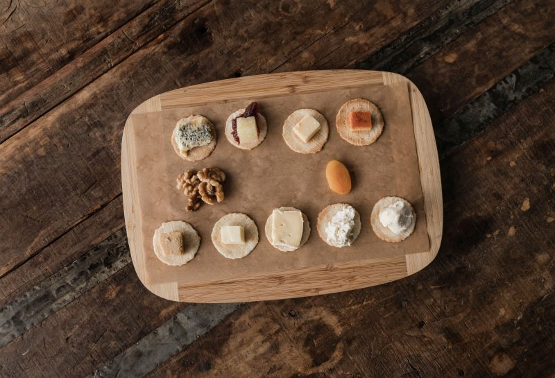 Cheese tasting board