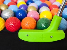 Image of colourful golf balls