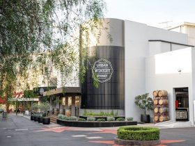 Front of Urban Winery Sydney located 100m past hoyts at the Entertainment Quarter