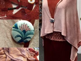 Silk and wool combination made by Vana Ford for Vasnas Designs. One only!