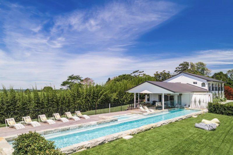 Villa St Helena - Byron Bay - Pool Toward House from Front Toward West