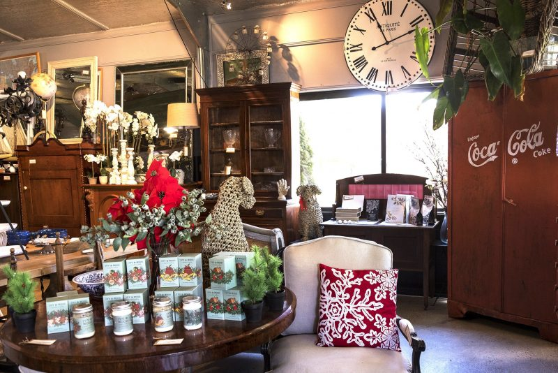 Range of antique products in store